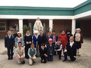 Second graders get presidential at OLA