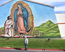 Corona pastor commissions giant mural of Our Lady of Guadalupe