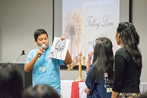 Asian Pacific Youth pray and dialogue with Bishop Barnes