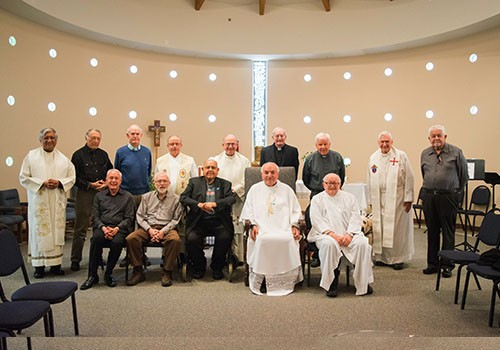 Bishop Barnes celebrates Mass with the Retired Priests of the Diocese