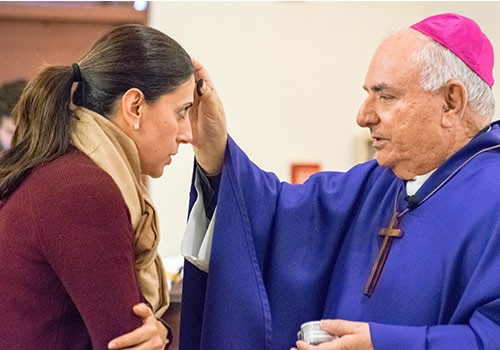 Bishop Barnes celebrates Ash Wednesday at Redlands university and, later, women's prison