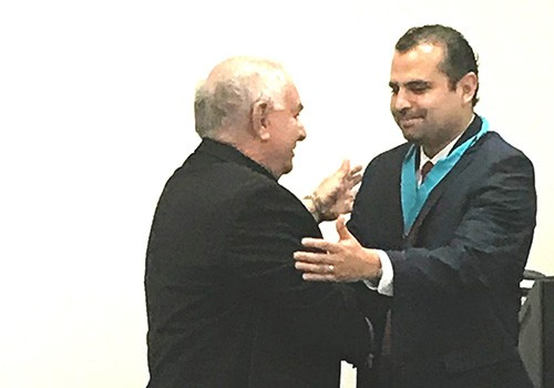 Bishop Barnes honors departing Guatemalan Consul Miranda