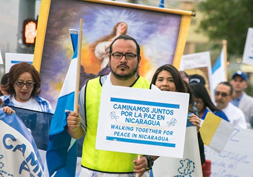 Diocese leads a Walk for Peace in Nicaragua